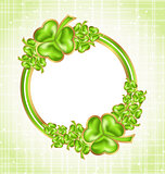Shamrock card for Saint Patrick day