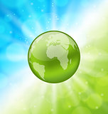 Planet earth on glowing abstract background