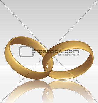Jewelry two golden ring