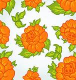 Cute flower seamless background