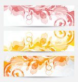 Set floral templates with changing autumnal colors
