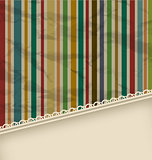 Retro stripe vintage with copyspace for text