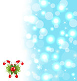 Christmas cute wallpaper with sparkle, snowflakes, sweet cane