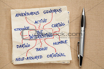 Be interesting - motivational doodle
