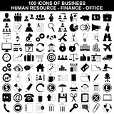 Set of business icons, human resource, finance and office