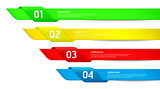 Colorful Modern Design style options template / can be used for workflow layout / diagram / numbered banners / web design