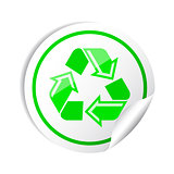Vector sticker recycle symbol