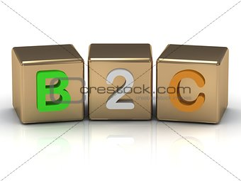 3d render B2C Business to Consumer symbol