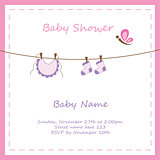 Baby Girl Invitation