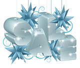 Christmas or New Year Sale Ornaments