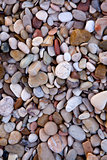 colored sea pebbles