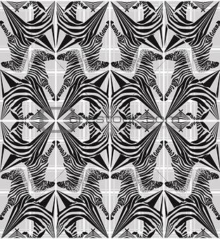 Abstract seamless zebra geometric pattern
