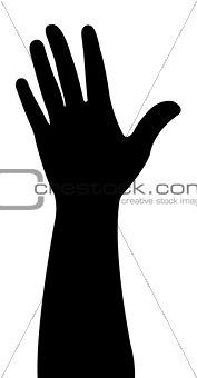 a hand vector