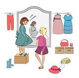 friends at wardrobe