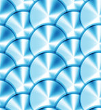 Seamless vector pattern with metallic circles