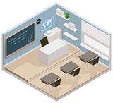 Vector isometric classroom icon