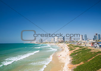 beach in tel aviv israel