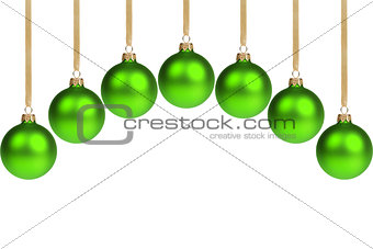 arc from green christmas balls