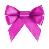 purple festive bow made from ribbon