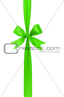 green handmade ribbon with bow