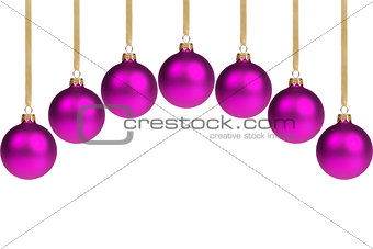 arc from purple christmas balls