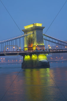 Chain Bridge pillar, Budapest