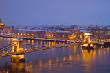Chain Bridge  from above, Budapest