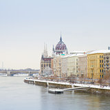 Danube Promenade and the Parliament, Budapest