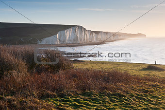 Seven Sisters sunrise viewed from Seaford Head