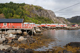 Fishing village of Nusfjord, on the Lofoten Islands, Norway, Scandinavia