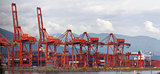 Port of Vancouver BC Cranes and Containers