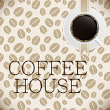 Coffee house menu template vector illustration