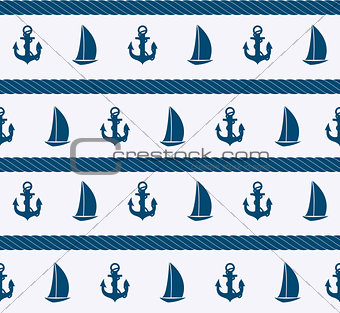 Abstract sea seamless pattern background. Vector illustration