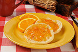 English muffins with orange marmalade