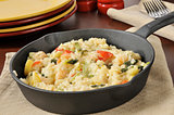 Garlic Shrimp Risotto in a Cast Iron Skillet