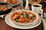 Hearty beef stew bourguignon