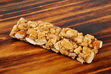Protein bar with fruit and nuts