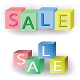 Colorful sale cubes