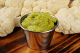 Cauliflower and guacamole