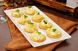 Deviled egg appetizers