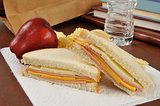 Bologna and cheese sandwich sack lunch