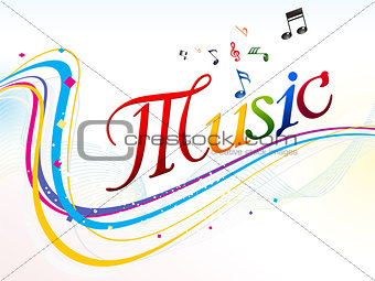 abstract colorful music text background