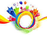 abstract colorful rainbow splash background
