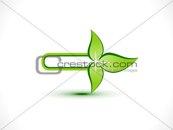 abstract eco arrow icon
