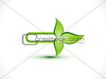 abstract eco arrow icon