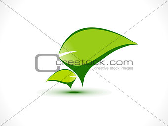abstract eco chat icon