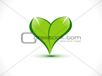abstract eco heart icon