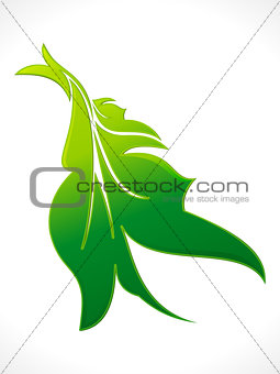 abstract green eco floral leaf