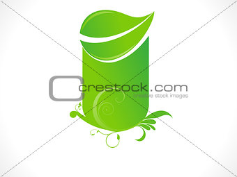 abstract eco green leaf based shape