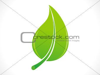 abstract eco green leaf icon